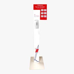 Hygiëne Station volledig gepersonaliseerd met logo voor de huisartsenpraktijk